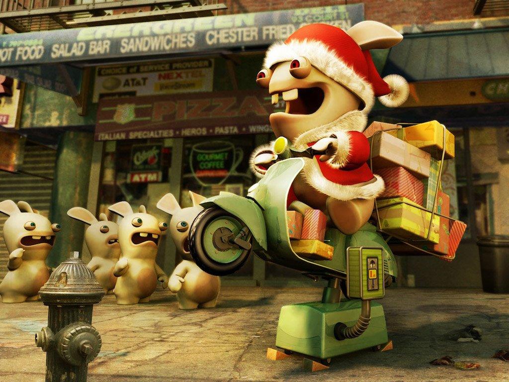 Games Wallpaper: Raving Rabbids - Christmas