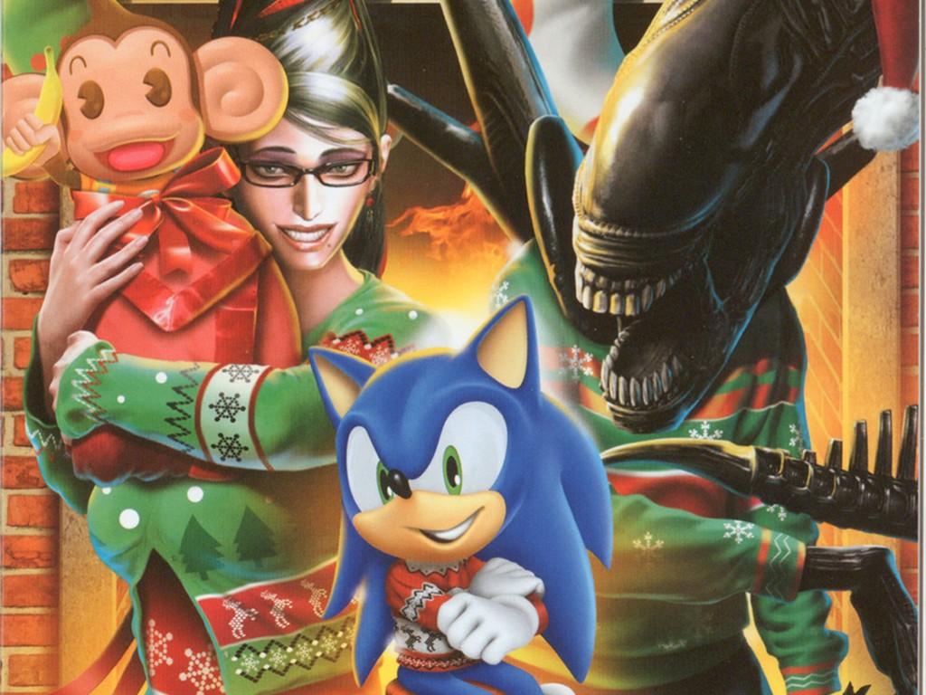 Games Wallpaper: Sega - Christmas Card