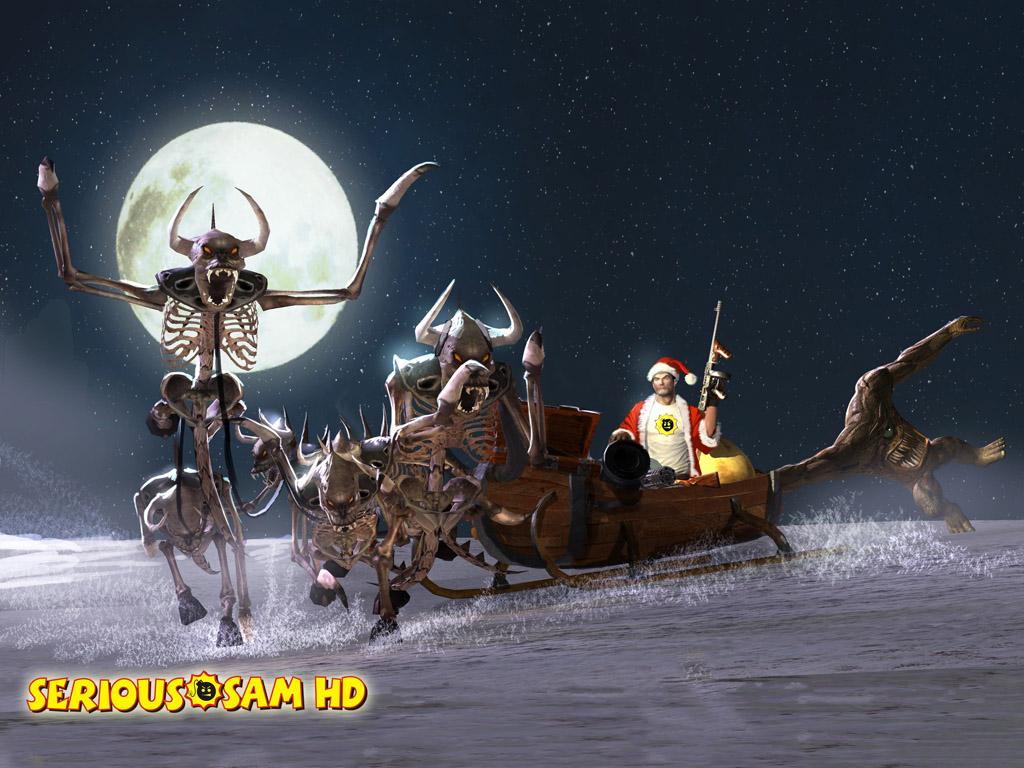 Games Wallpaper: Serious Sam - Christmas