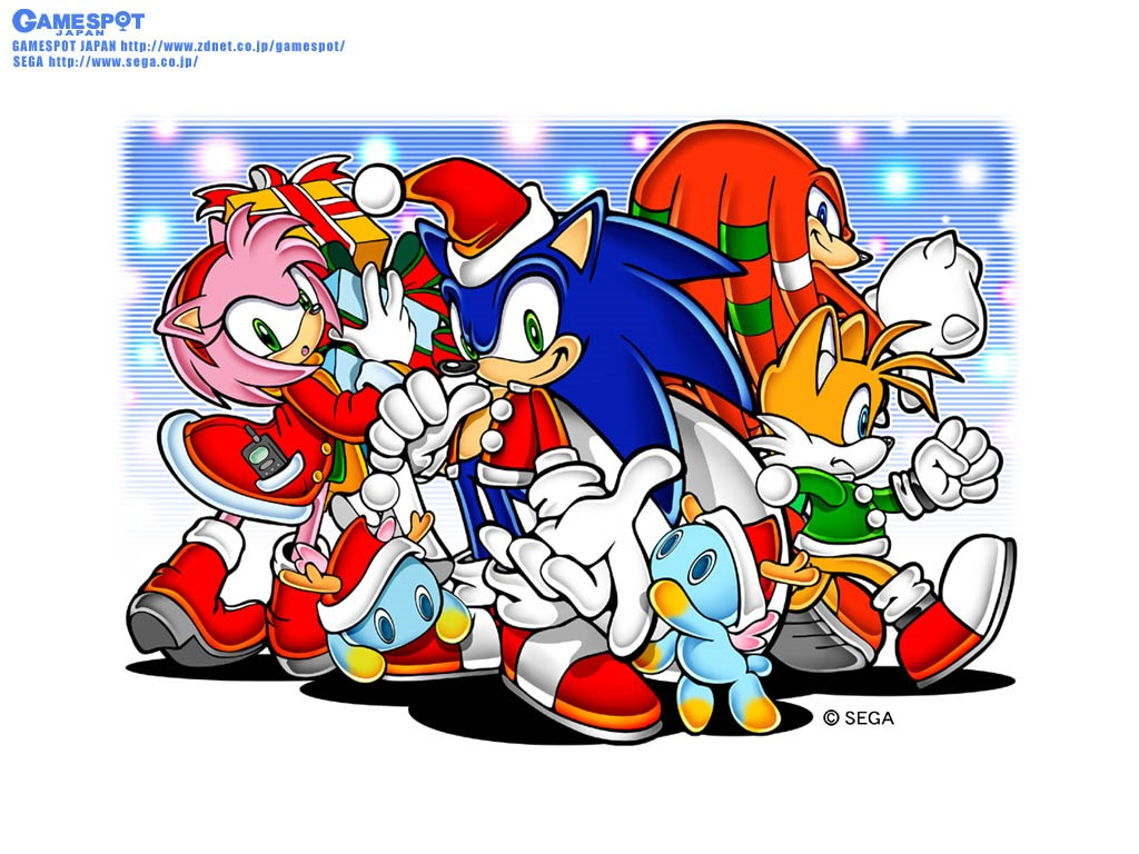Games Wallpaper: Sonic and Friends - Christmas