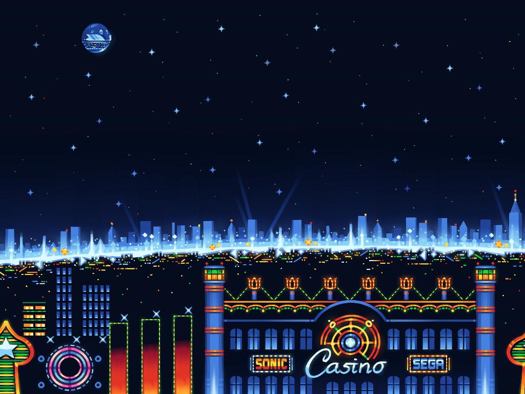 Games Wallpaper: Sonic - Casino Nights