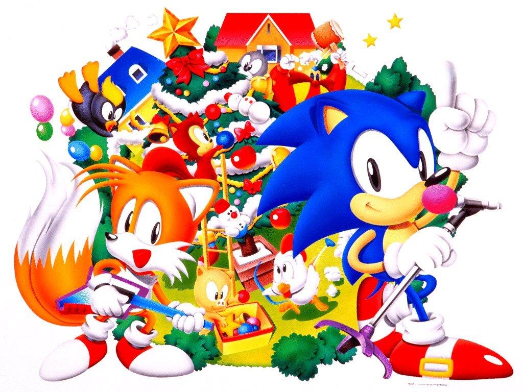 Games Wallpaper: Sonic - Christmas