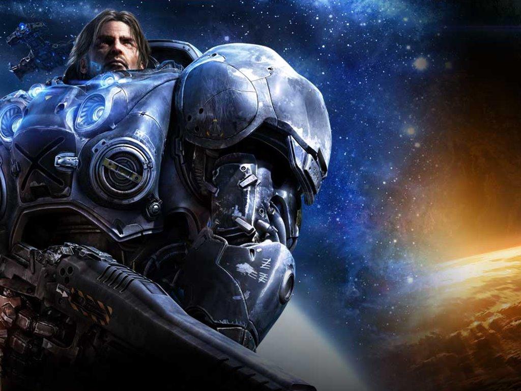 Games Wallpaper: Starcraft 2 - Terran Marine