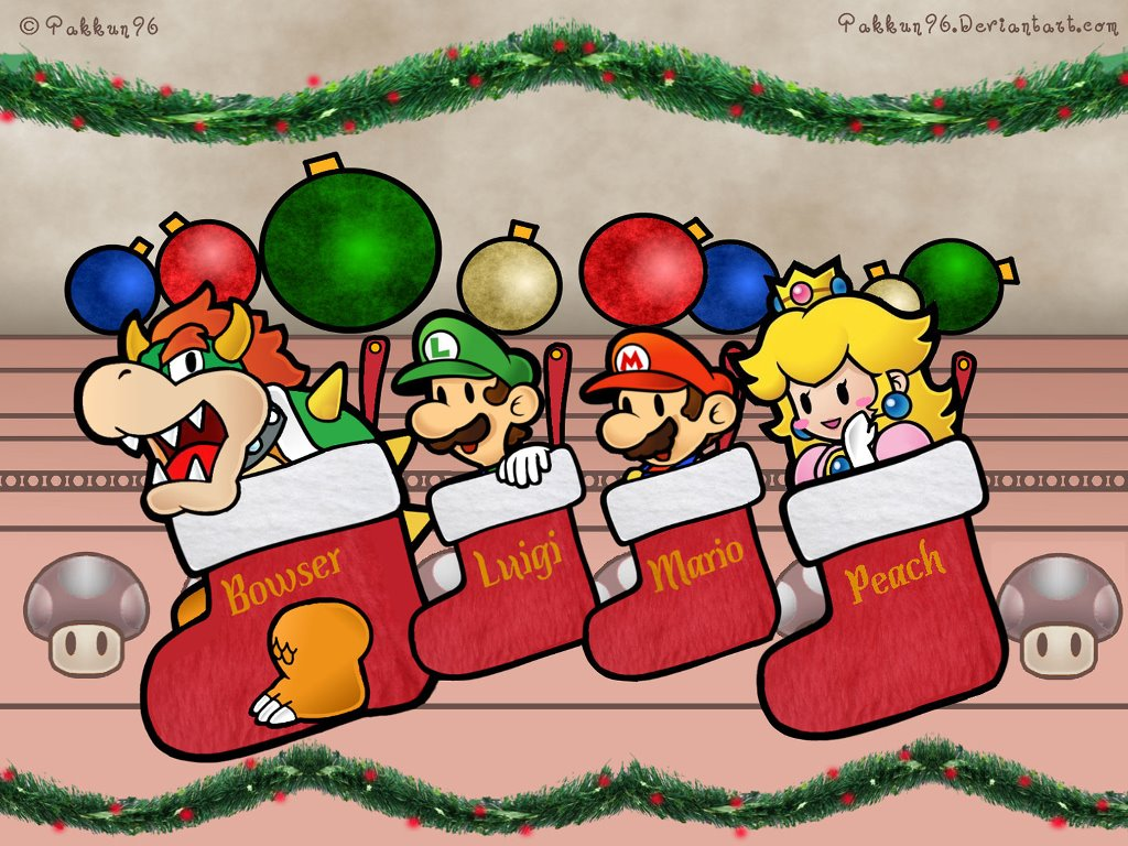 Games Wallpaper: Super Mario - Xmas