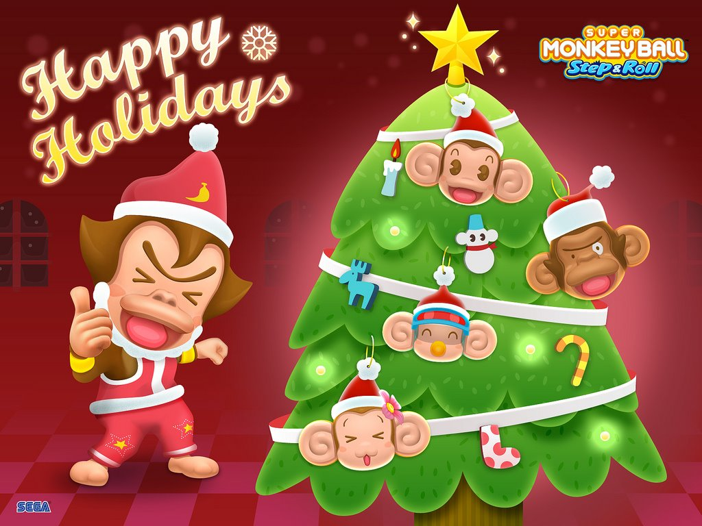 Games Wallpaper: Super Monkey Ball - Christmas