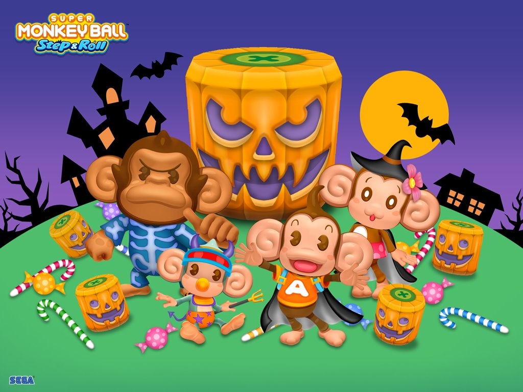 Games Wallpaper: Super Monkey Ball Step and Roll - Halloween