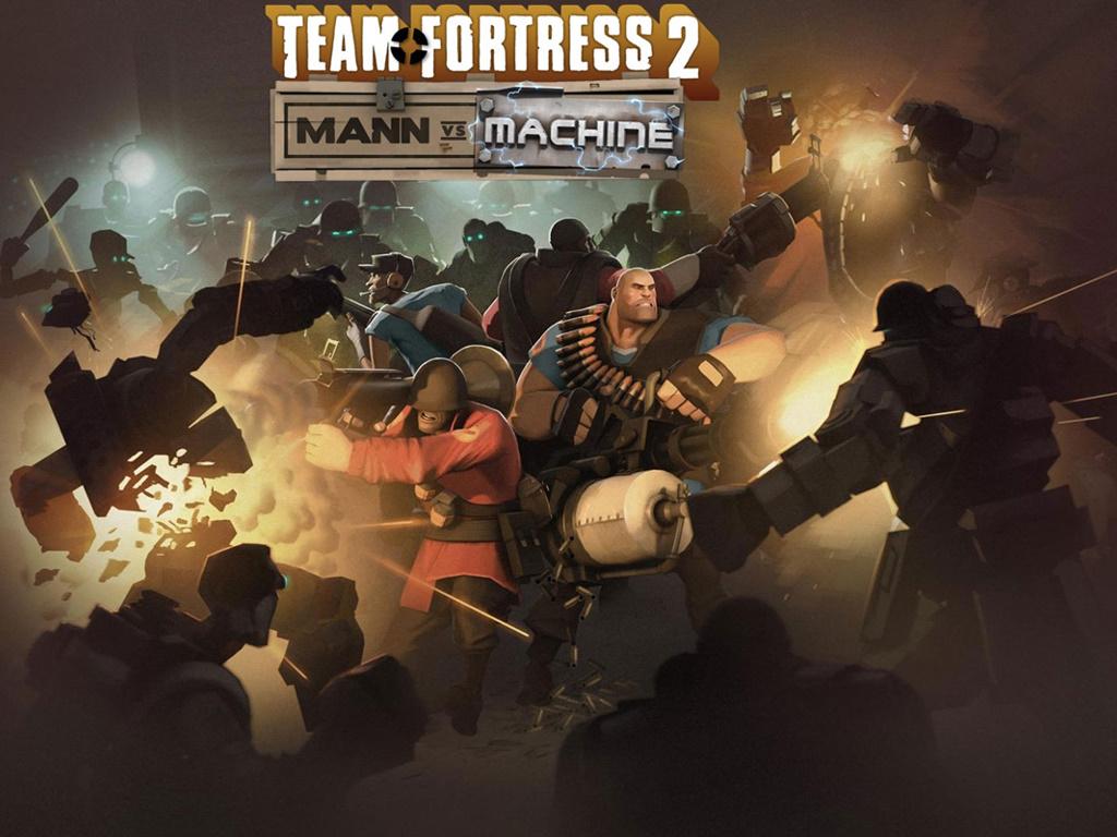 Games Wallpaper: Team Fortress 2 - Mann vs Machine