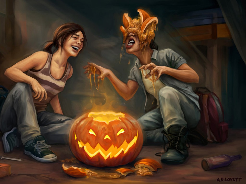 Games Wallpaper: The Last of Us - Halloween