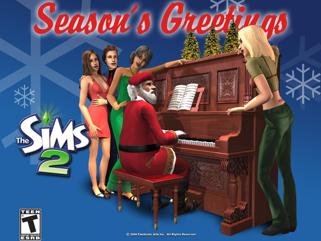 Games Wallpaper: The Sims 2 - Christmas