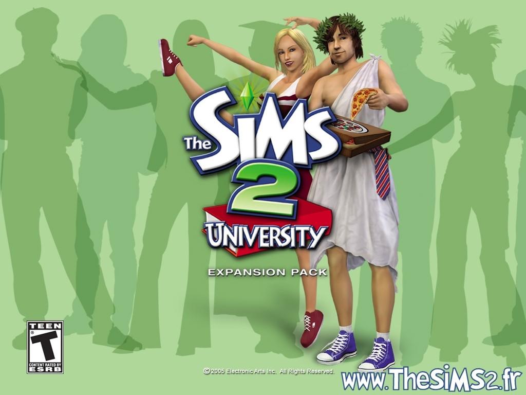 Papel de Parede Gratuito de Jogos : The Sims 2 - University