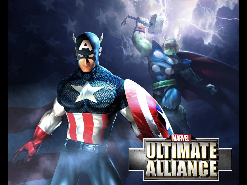 Games Wallpaper: Ultimate Alliance - Captain America and Thor