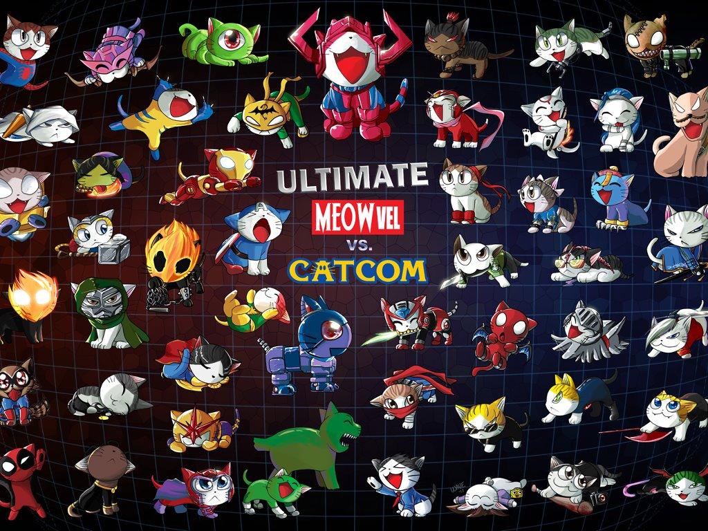 Games Wallpaper: Ultimate Meowvel vs Catcom 3