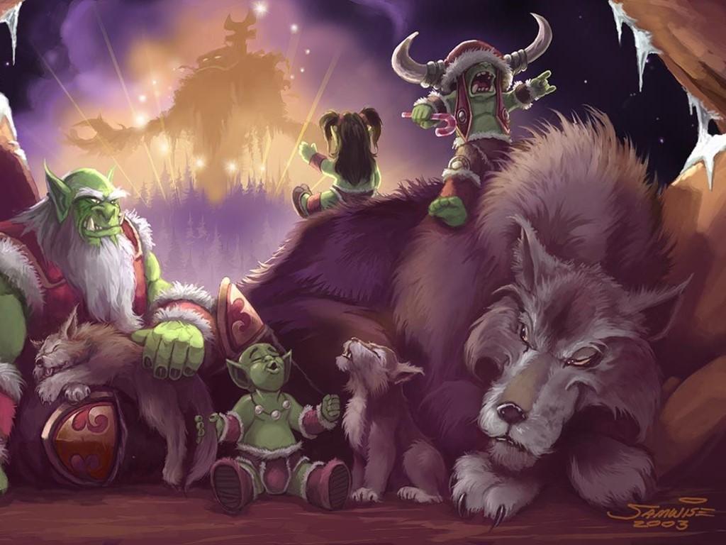 Games Wallpaper: World of Warcraft - Christmas