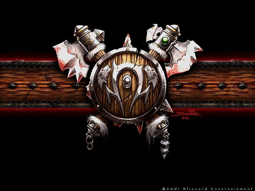 Games Wallpaper: Warcraft 3 - Orc Shield