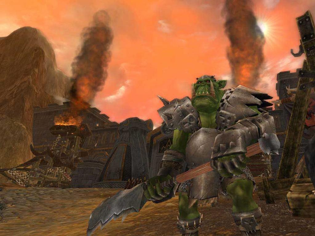 Games Wallpaper: Warhammer Online - Orc Siege