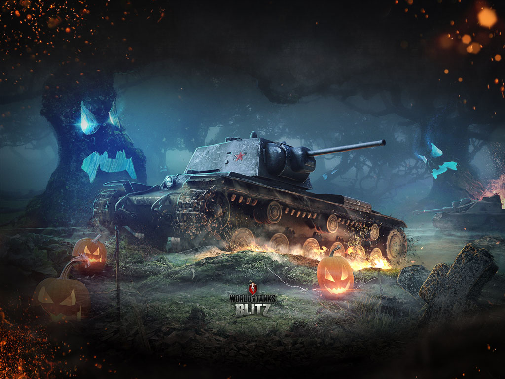 Games Wallpaper: World of Tanks - Halloween