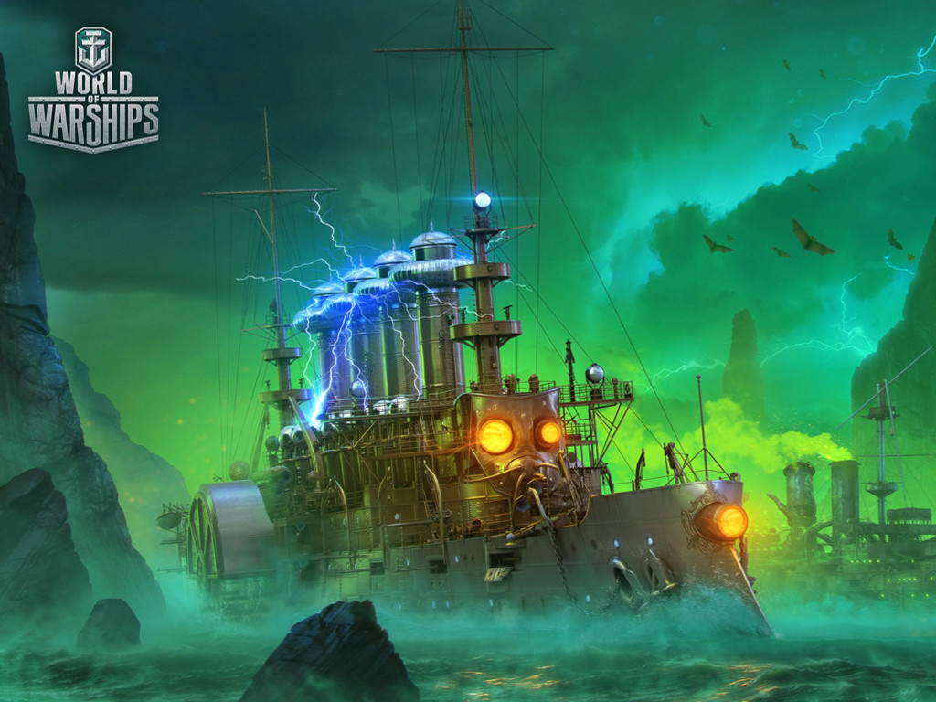 Games Wallpaper: World of Warships - Halloween