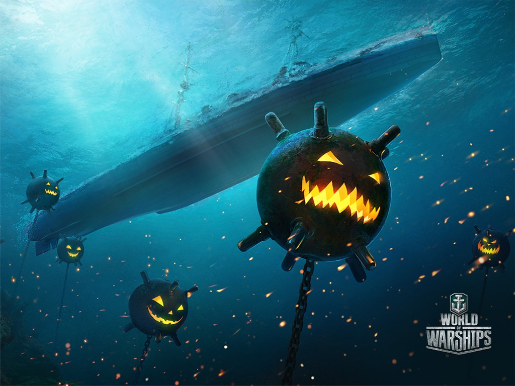 Games Wallpaper: World of Warships - Halloween