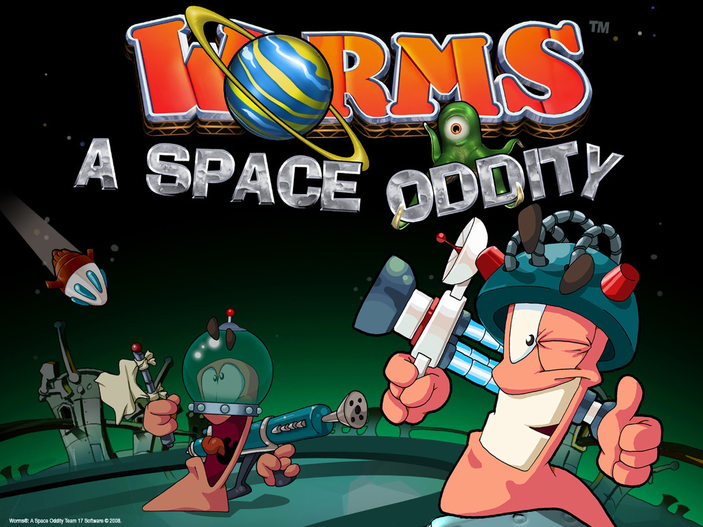 Games Wallpaper: Worms - A Space Oddity