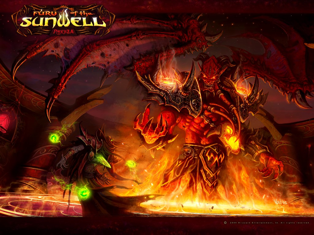 Games Wallpaper: WoW - Fury of the Sunwell