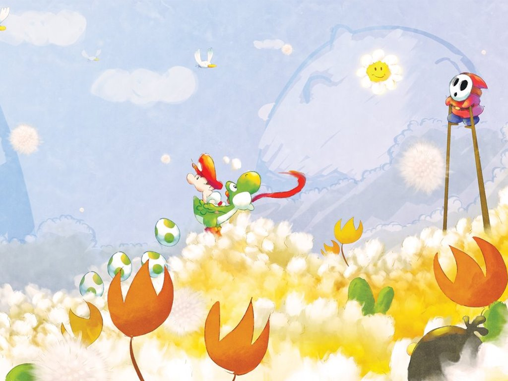 Games Wallpaper: Yoshi's Playground (by Orioto)