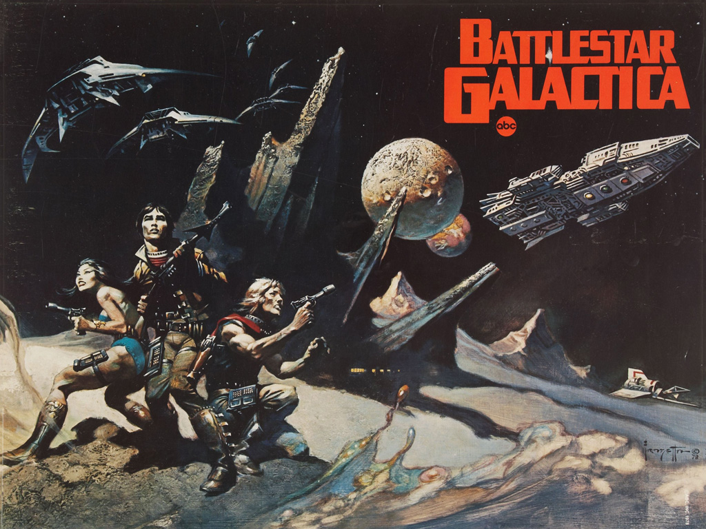 Movies Wallpaper: Battlestar Galactica (by Frazetta)