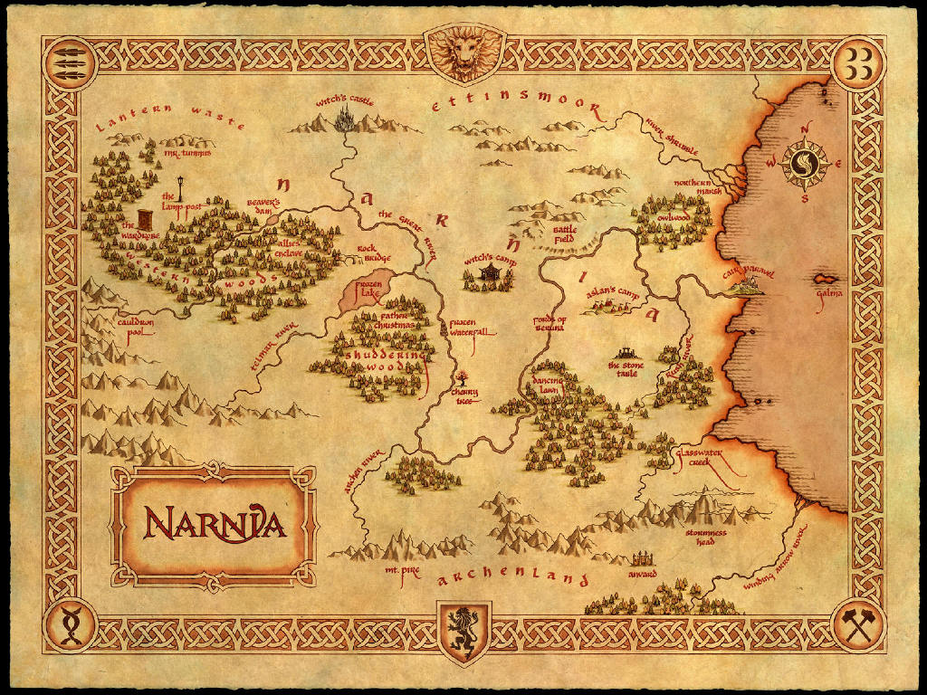 Movies Wallpaper: Chronicles of Narnia - Map