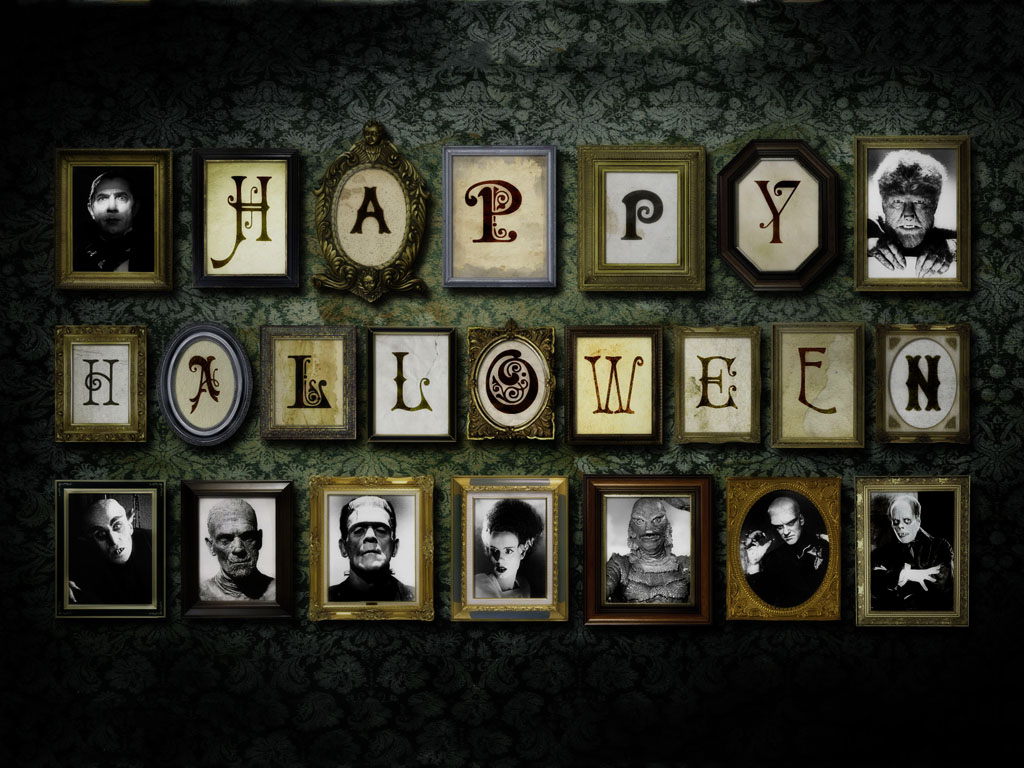 Movies Wallpaper: Classic Monsters - Happy Halloween