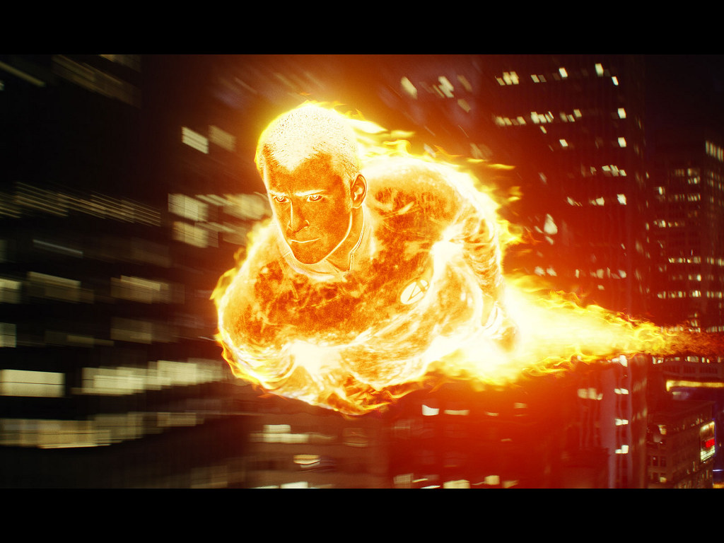 Movies Wallpaper: Fantastic Four - Flame On!