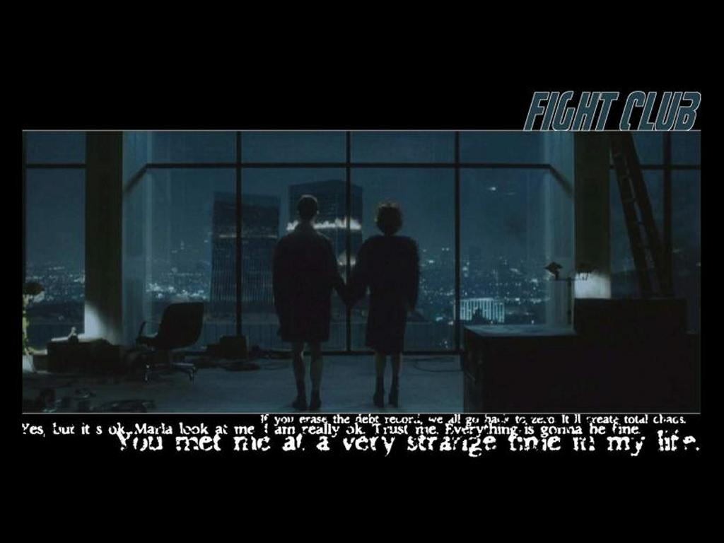 Movies Wallpaper: Fight Club - The End