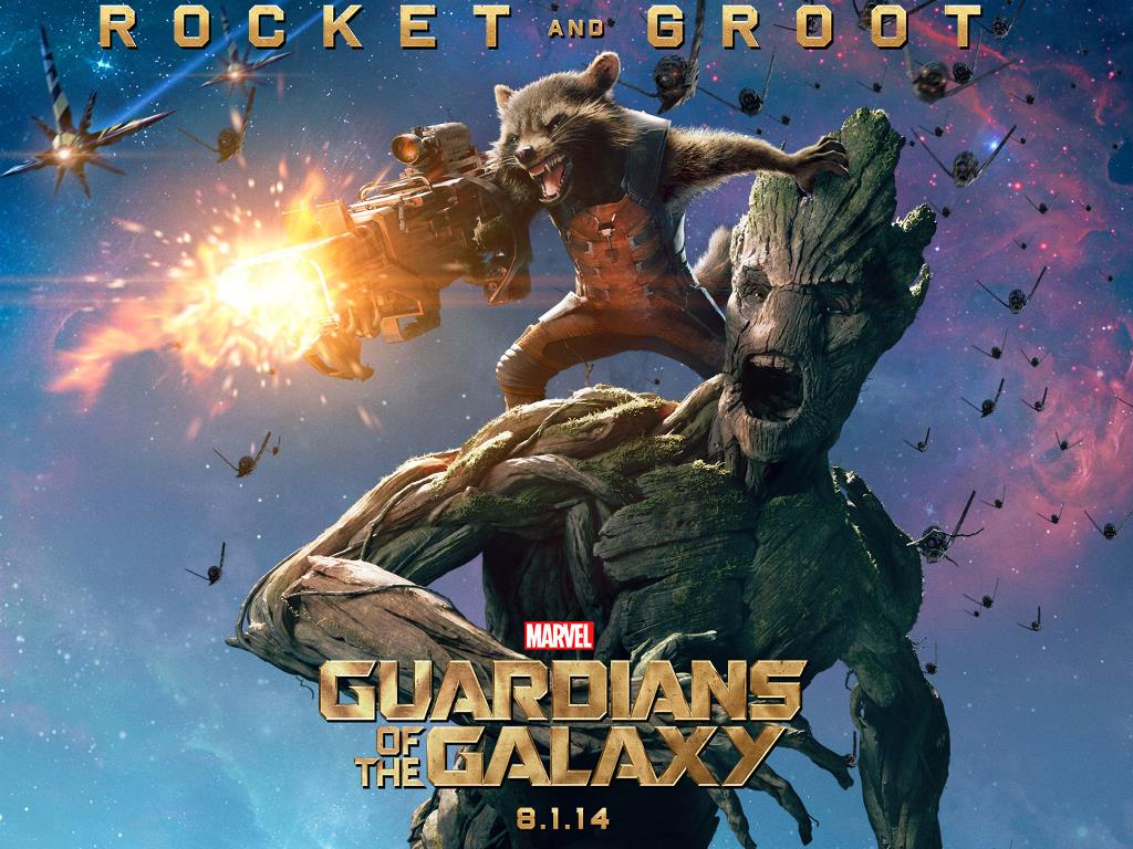 Movies Wallpaper: Guardians of the Galaxy - Rocket and Groot