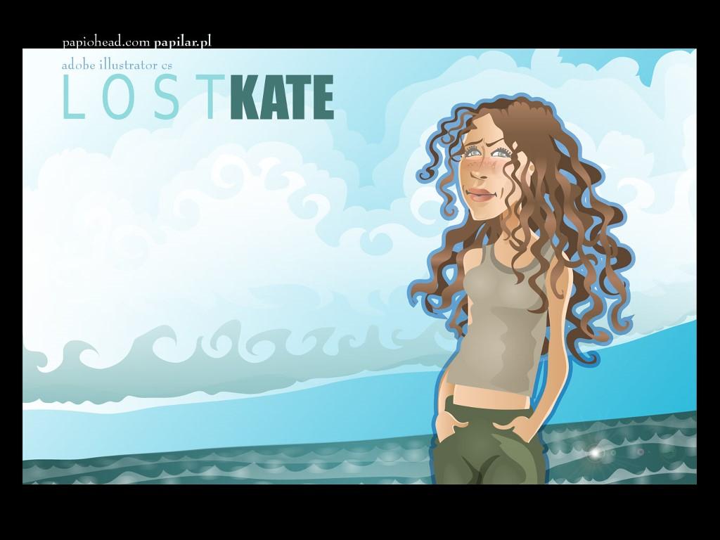 Movies Wallpaper: Lost - Kate (Cartoon)
