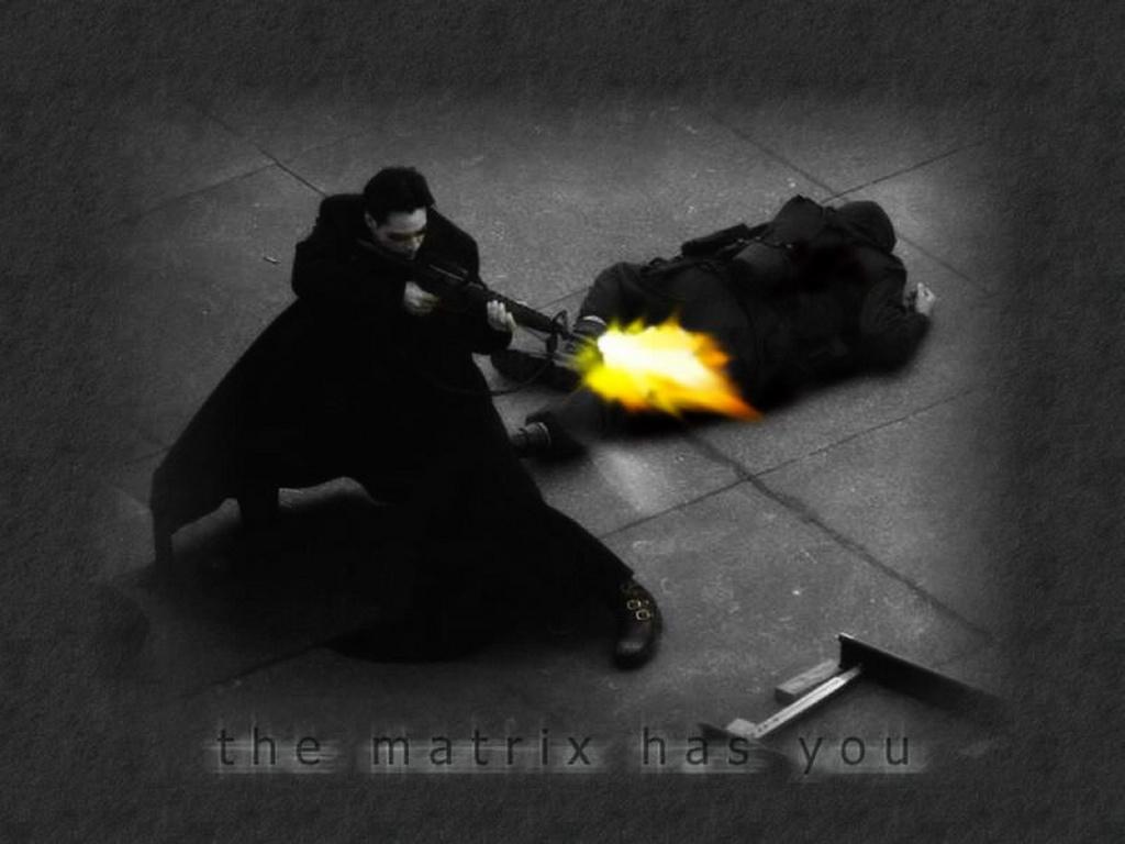 Movies Wallpaper: Matrix - Neo Shooting