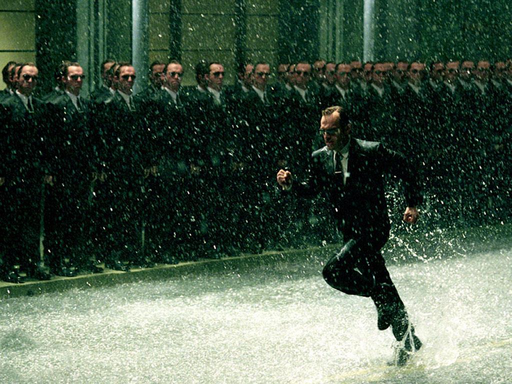 Movies Wallpaper: Matrix Revolutions - Rain Fight