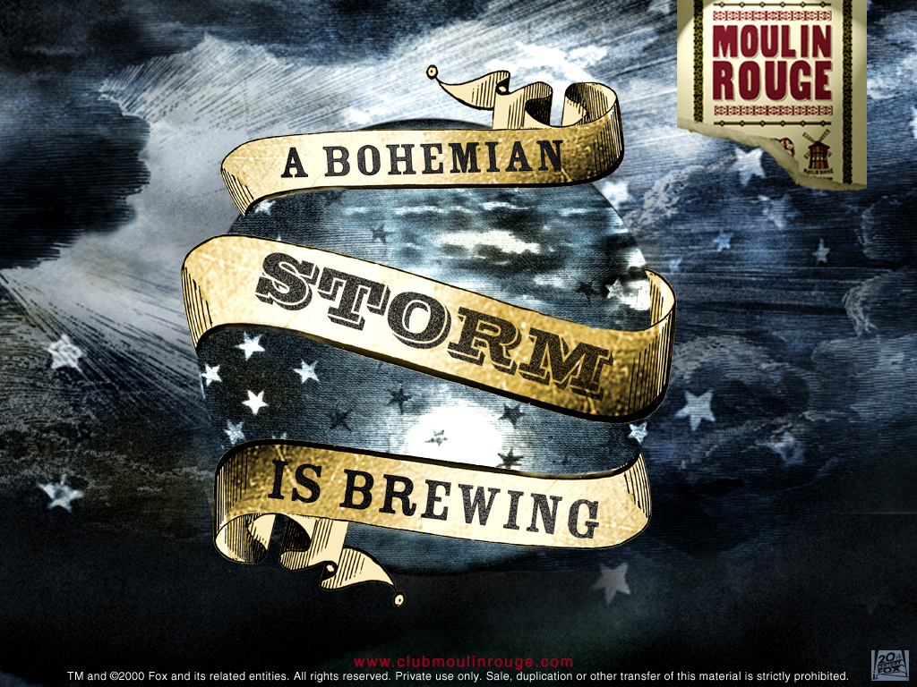 Movies Wallpaper: Moulin Rouge - A Bohemian Storm is Brewing