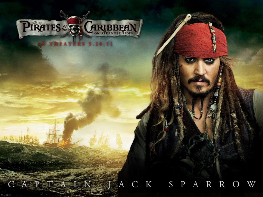 Movies Wallpaper: Pirates of the Caribbean - On Stranger Tides (Jack Sparrow)