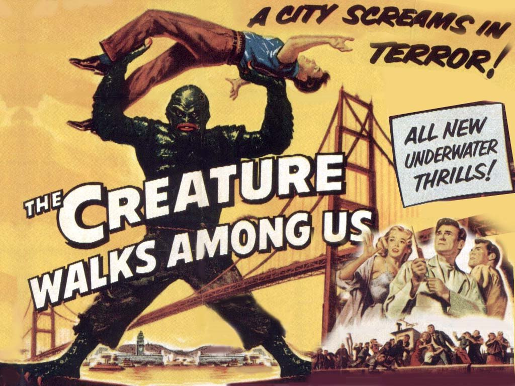 Movies Wallpaper: The Creature Walks Among us
