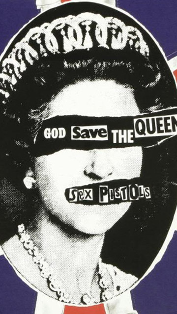 Sex pistols god save the queen flag