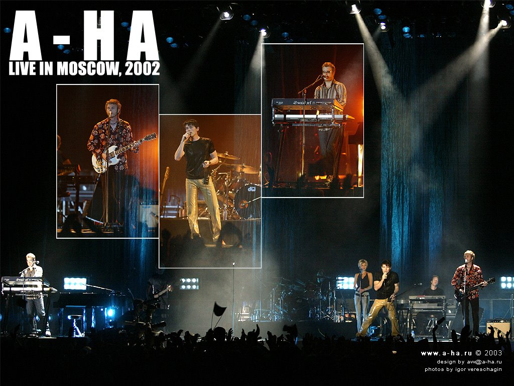 Music Wallpaper: A-HA - Live in Moscow