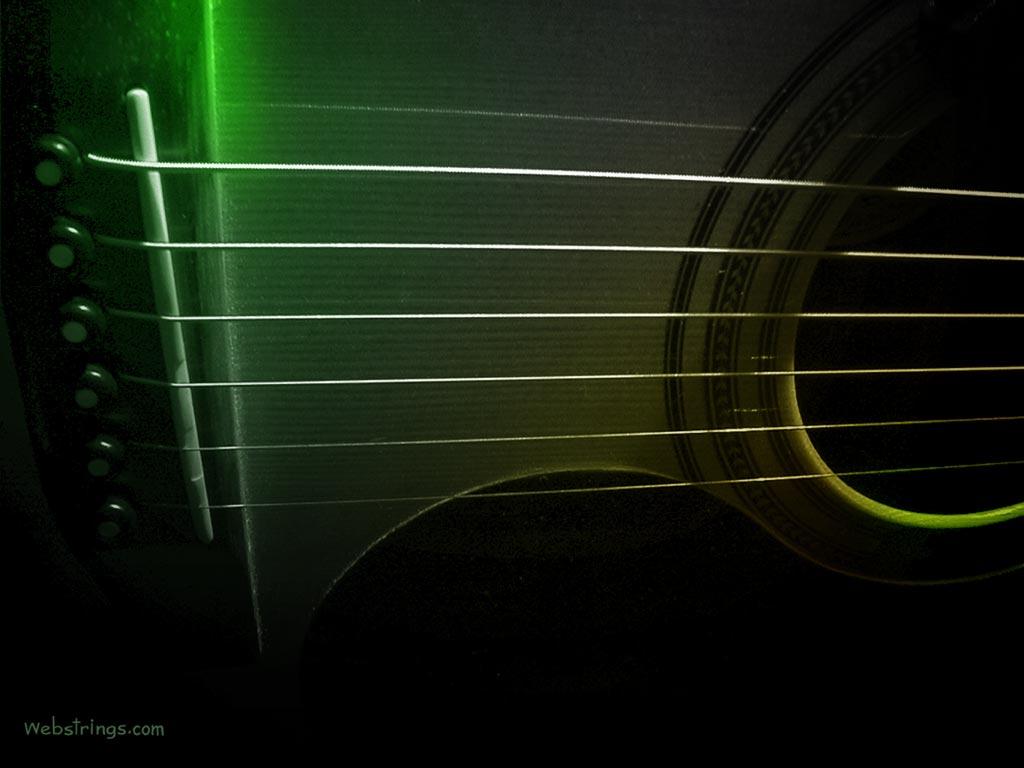 Music Wallpaper: Acoustic Strings - Bridge