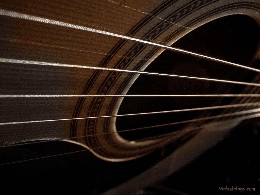 Music Wallpaper: Acoustic Strings