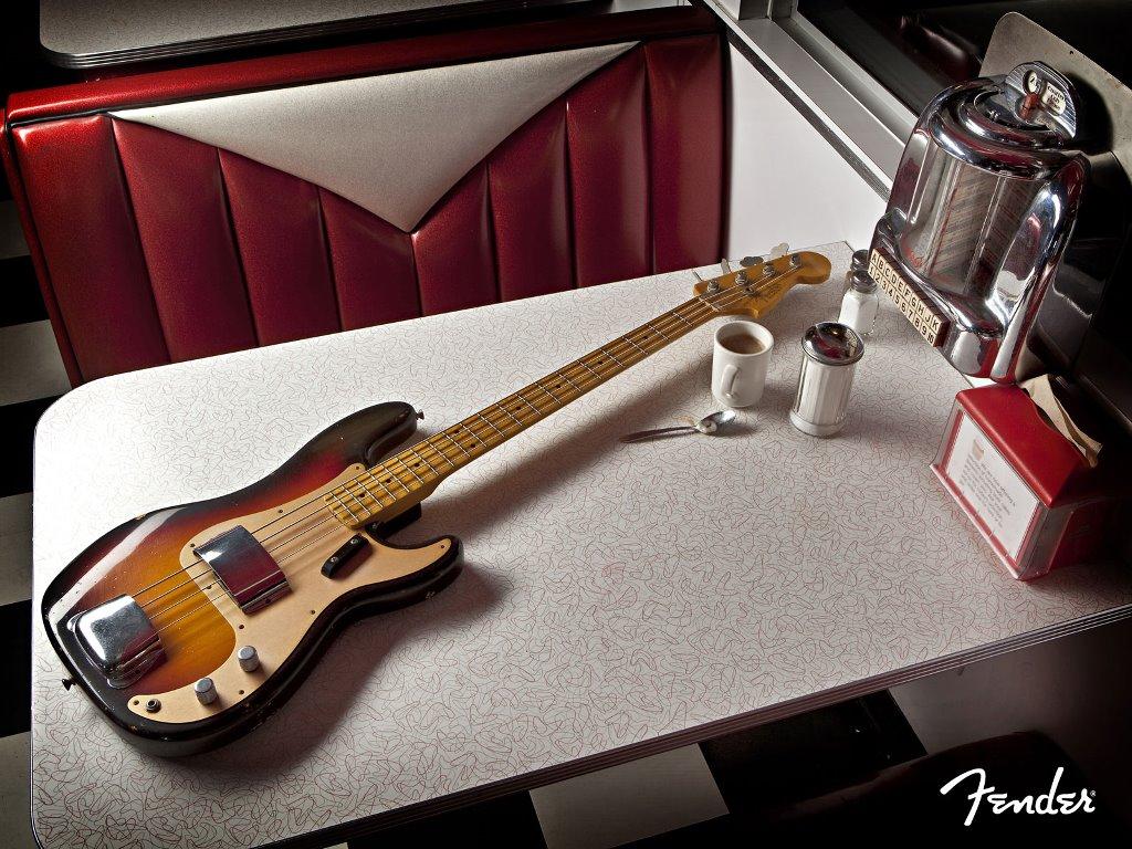 Music Wallpaper: Bass - Fender