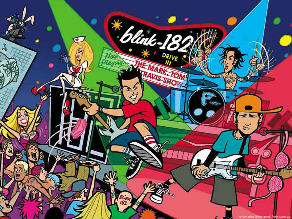 Music Wallpaper: Blink 182 - Cartoon