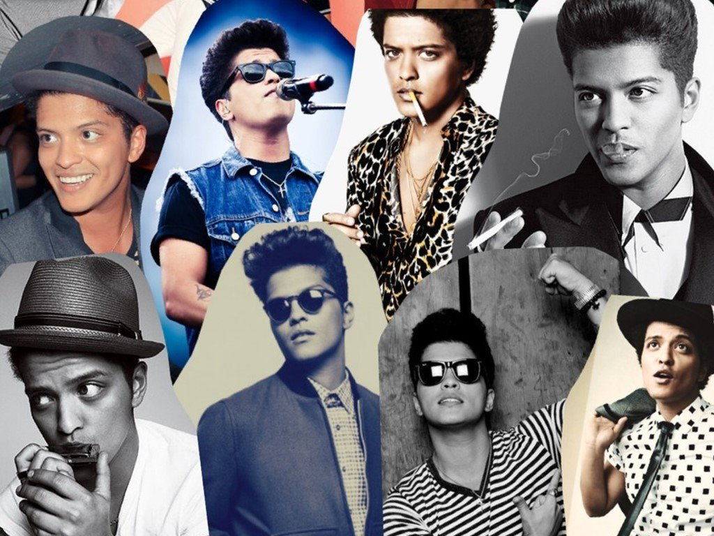 Music Wallpaper: Bruno Mars - Collage