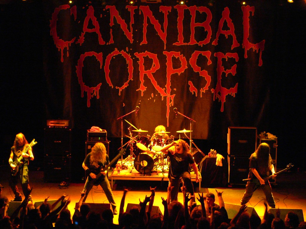 Music Wallpaper: Cannibal Corpse - Stage