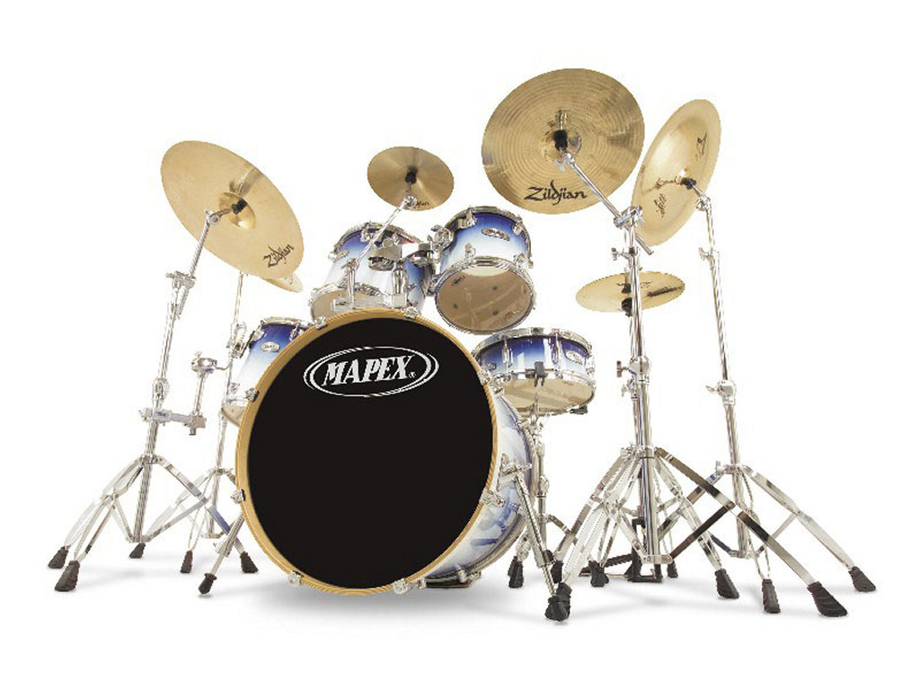 Music Wallpaper: Drum Set