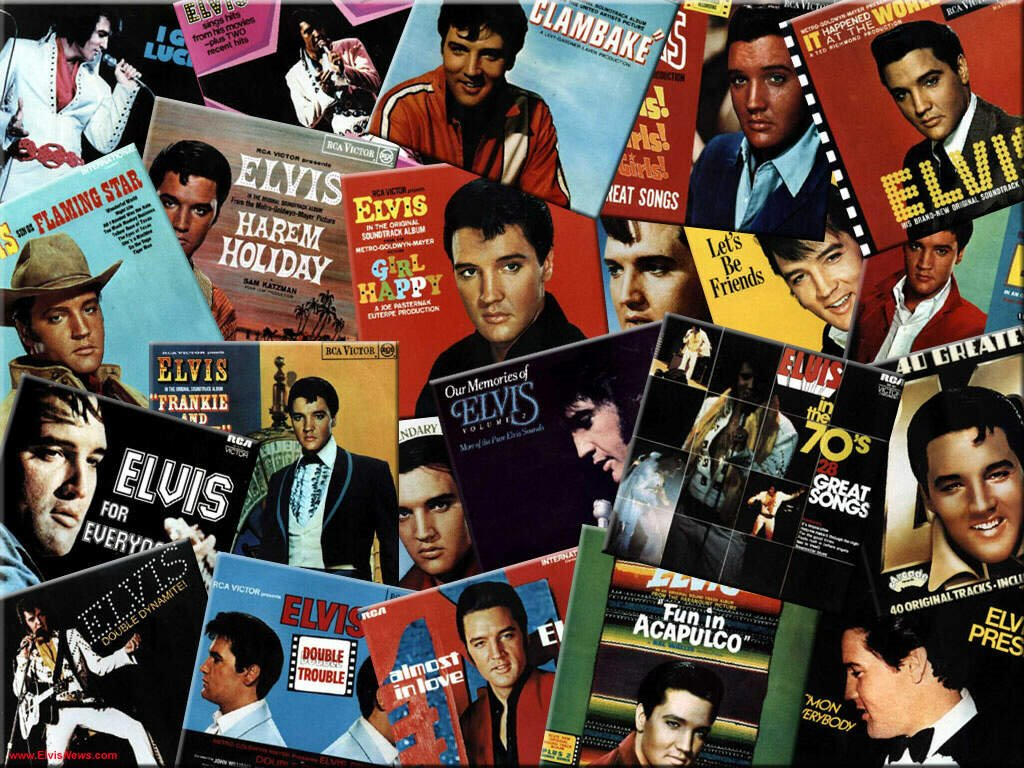 Music Wallpaper: Elvis - Records