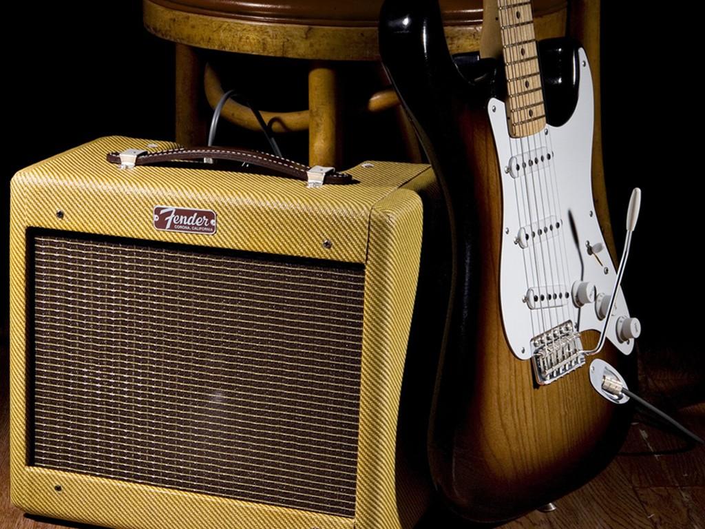 Music Wallpaper: Fender - Amplifier and Guitar