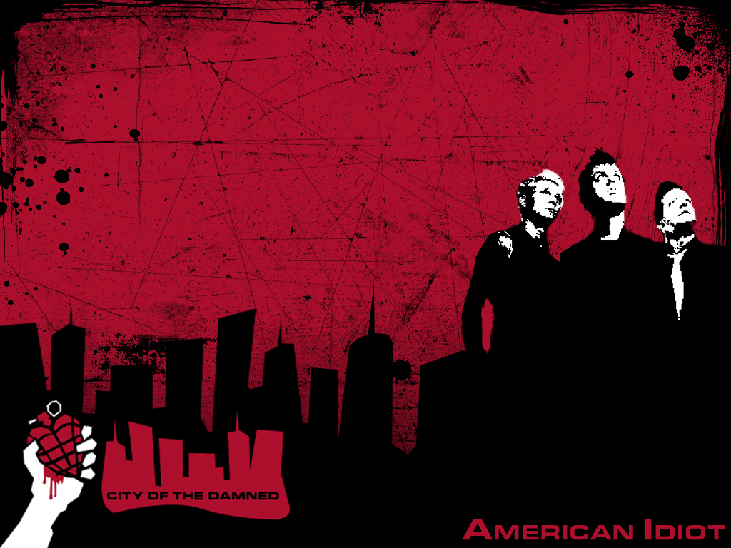 Music Wallpaper: Green Day - America Idiot