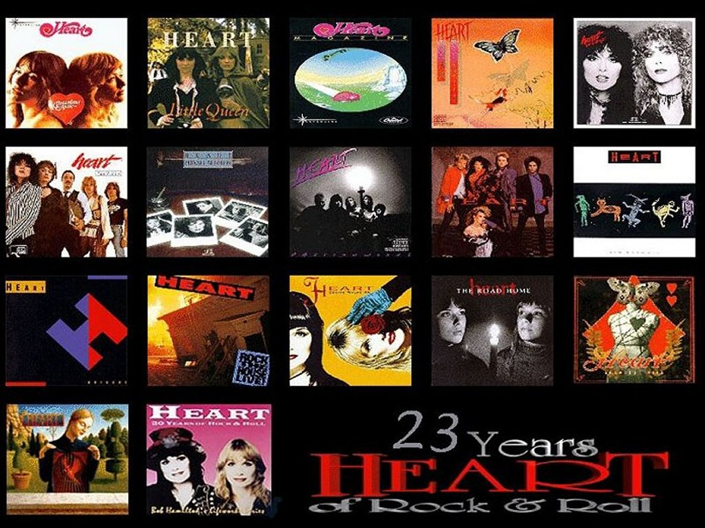 Music Wallpaper: Heart - Covers